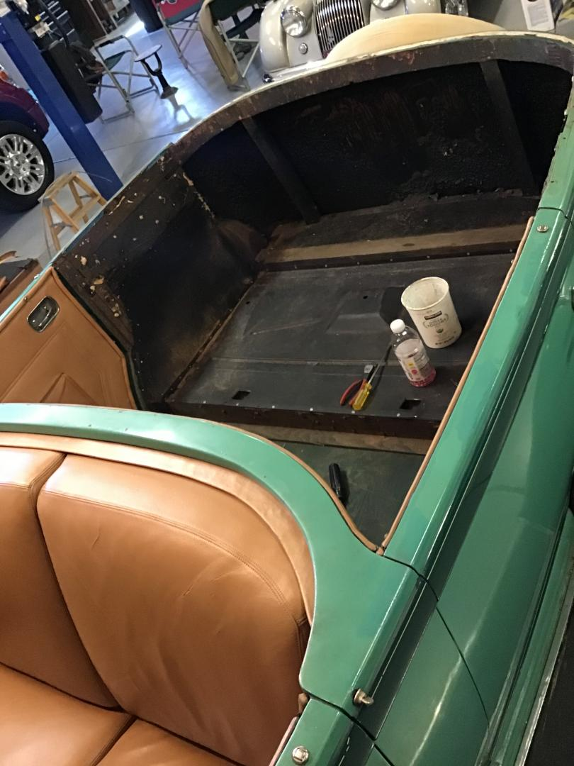 Rear interior removed